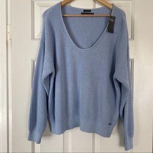 Abercrombie & Fitch light blue sweater